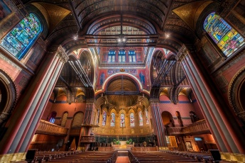 Interior of the Trinity Church in Boston, Massachusetts