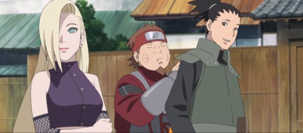 Ino, Chouji, and Shikamaru